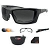 BOBSTER EYEWEAR POLARIZED CONVERTIBLE SUNGLASSES / GOGGLES