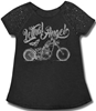 LETHAL THREAT WOMENS CURVY LETHAL ANGEL BIKE SCOOP NECK SHIRT