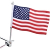 SHOW CHROME ACCESSORIES 12 IN. FLAG POLES WITH FLAG AND FINIAL