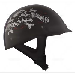 CKX SLICK LIVE TO RIDE OPEN FACE HALF HELMET