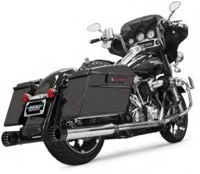 BASSANI XHAUST 4 INCH DNT STRAIGHT CAN MUFFLERS WITH AN ACOUSTICALLY TUNED BAFFLE