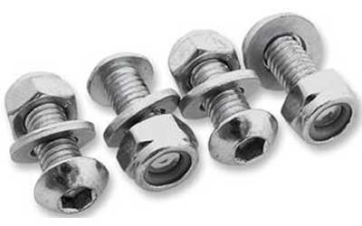 BOLT MC HARDWARE LICENSE PLATE FASTENER KIT