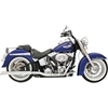 BASSANI XHAUST POWER CURVE TRUE-DUAL CROSSOVER HEADER PIPES AND MUFFLERS FOR SOFTAIL