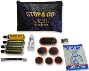 STOP & GO INTERNATIONAL SCOOTER TUBE TYPE TIRE REPAIR AND INFLATION KIT