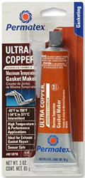 PERMATEX ULTRA COPPER MAXIMUM TEMPERATURE  RTV SILICONE GASKET MAKER