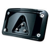 Curved Laydown License Plate Mount with Frame