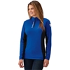 Womens Long-Sleeve Quarter-Zip Pullover with Slingshot Logo