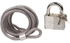EMGO 6 FOOT STEEL CABLE AND PADLOCK SET