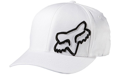 Fox Racing Cap Hat Flex 45 Flexfit Hat Black//White S//M 58379 In Stock