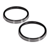 Arlen Ness Signature Custom Billet Instrument Bezels Pair