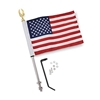 Show Chrome Accessories 12 Inch Flag Pole with Flag for Victory
