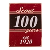 100 Years Scout Metal Sign