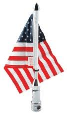 PRO PAD FOLD DOWN MOUNT WITH 6 in. X 9 in. USA FLAG