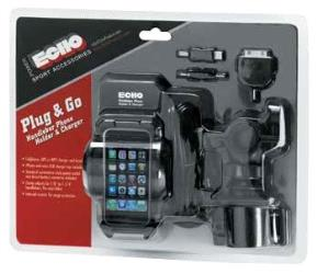 ECHO PLUG AND GO HANDLEBAR PHONE HOLDER AND CHARGER