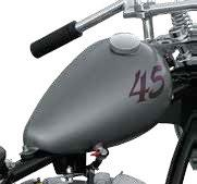 PAUGHCO AXED CUSTOM GAS TANK WITH PEAK