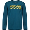 Checkers Long Sleeves Mens T-Shirt