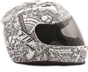 FLY RACING REVOLT FS INK 'N NEEDLE STREET HELMET