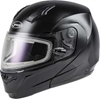 GMAX MD-04S SNOW HELMET SOLID W/QUICK RELEASE BUCKLE ELECTRIC SHIELD
