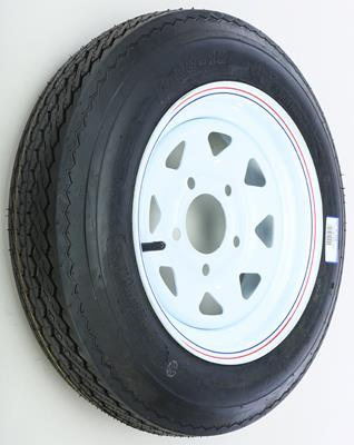 AWC TRAILER TIRE & 8 SPOKE STEEL WHEEL ASSEMBLY