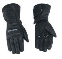 Full leather 3-season gloves.  Inverted seams provide increased feel to the sensitive areas of the hand for a better grip and additional comfort.  Reinforced palm with padding for extra comfort while riding.  Shaped fingers for maximum fitted comfort.  Art