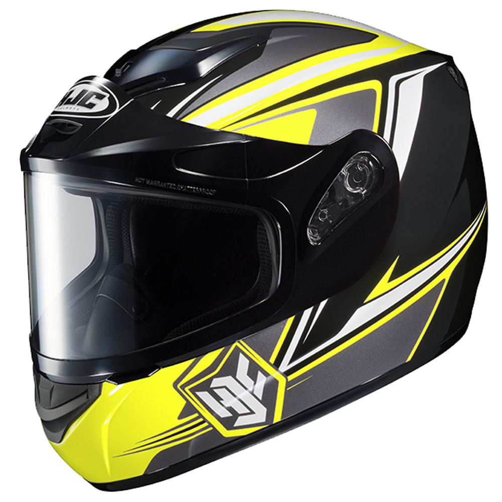 CS-R2 Seca Yellow Dual Lens HJC™ Snowmobile Helmet