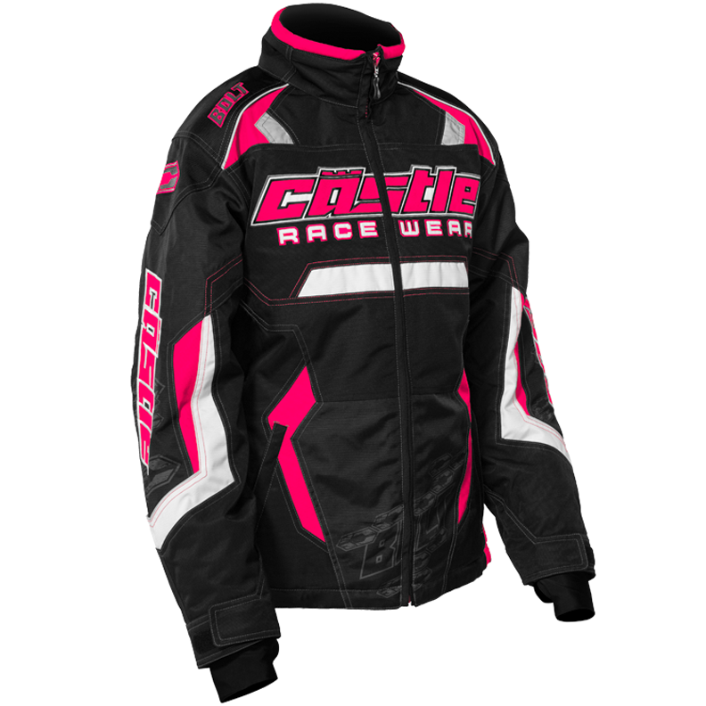 Bolt Girl's G3 Hot Pink Castle X™ Youth Snowmobile Jacket