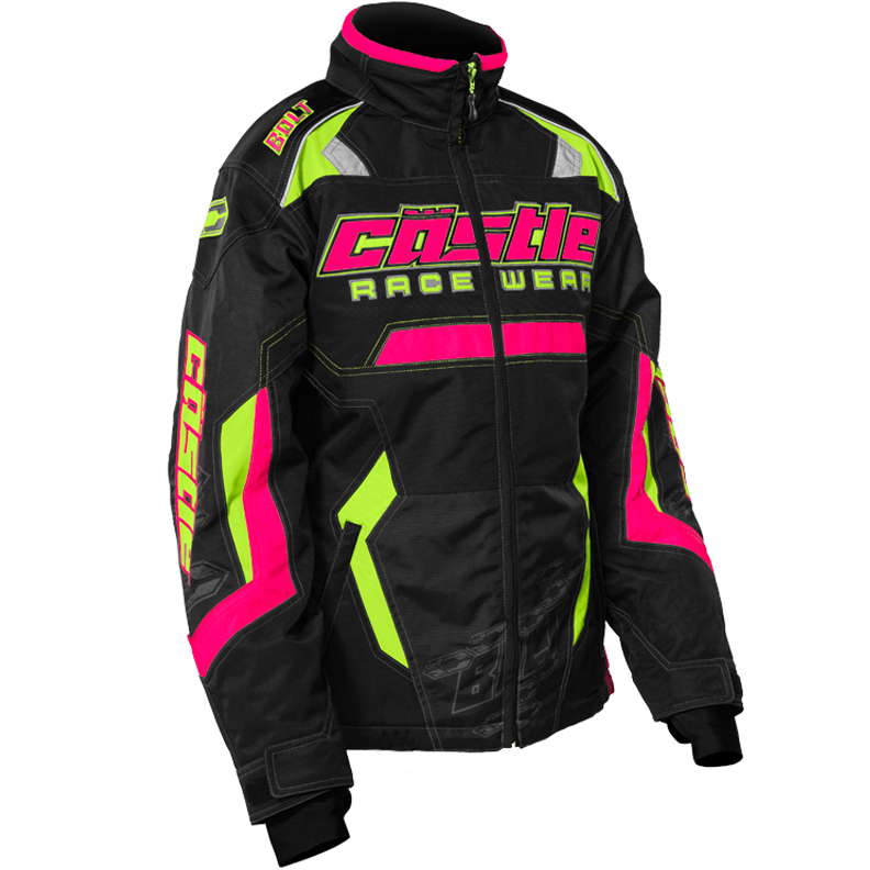 Bolt Girl's G3 Hi-Vis/Hot Pink Castle X™ Youth Snowmobile Jacket