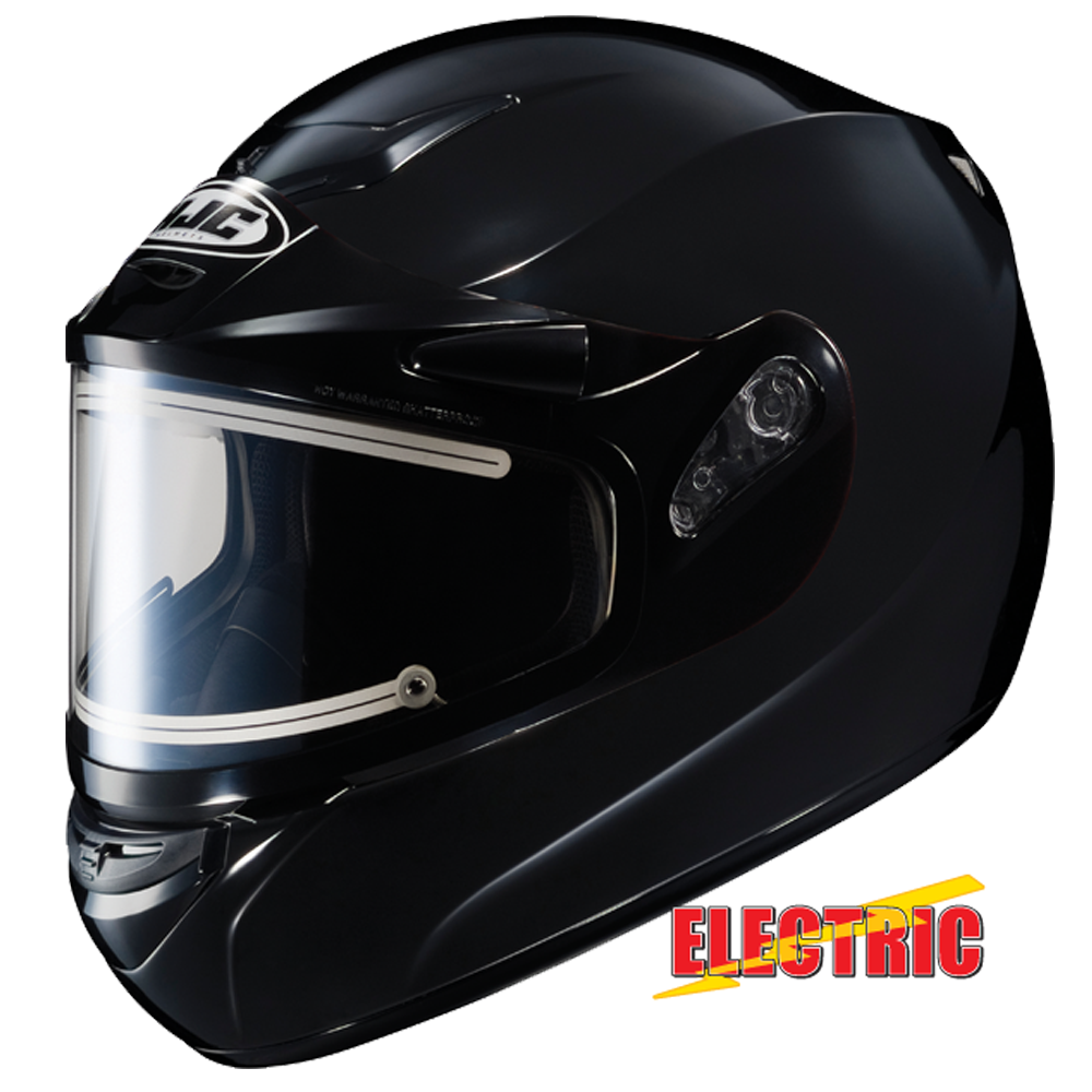 CS-R2 Black Electric Shield HJC™ Snowmobile Helmet (S)