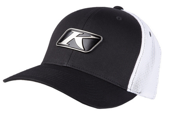 KLIM ICON SNAP BACK HAT BLACK / WHITE OSFA